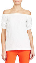 Lauren Ralph Lauren Petite Cotton Off-the-Shoulder Top