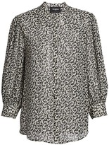 The Kooples Abstract Print Silk Blend Blouse