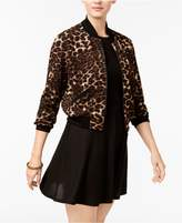 Teeze Me Juniors' Bomber Jacket and Fit and Flare Dress