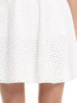 DKNY Mixed Eyelet Circle Skirt