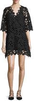 See by Chloe Leaf-Lace Mini Dress, Black