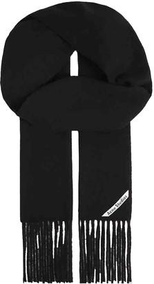 Acne Studios Black Wool Scarves