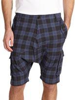Mostly Heard Rarely Seen Regiment Plaid Harem Shorts