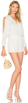 Krisa Lace Up Romper in White. - size L (also in M,S)
