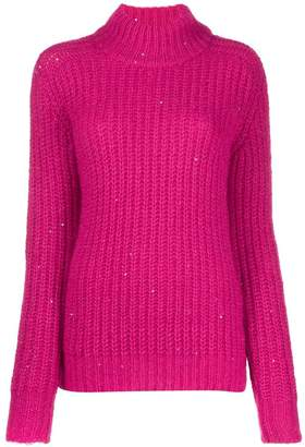 Saint Laurent sequinned turtleneck sweater