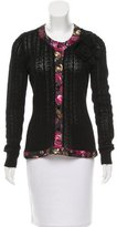 Oscar de la Renta Virgin Wool & Cashmere-Blend Cardigan