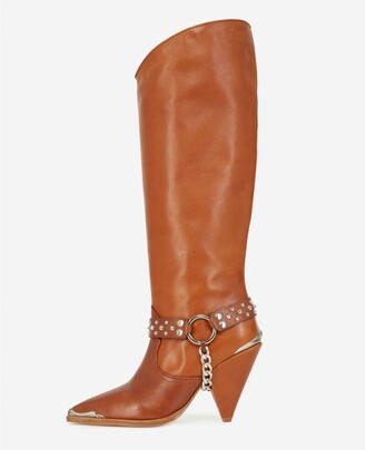 The Kooples Western camel-coloured heeled boots