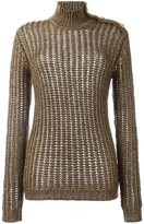 Balmain ribbed open knit jumper