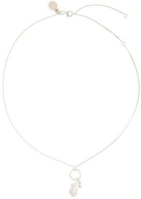 Karen Walker Acorn And Leaf Loop Necklace