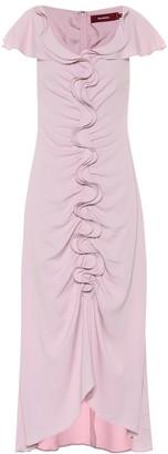 Sies Marjan Ruffled silk-blend midi dress