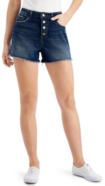 Only Cotton Button-Fly Denim Shorts