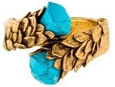 Roberto Cavalli Turquoise Hinged Bypass Bangle Bracelet