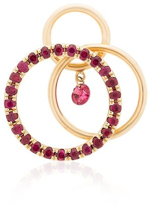 PERSÉE 18kt gold Tri Circle hoop earring