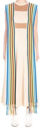 Loewe Striped Scarf Shift Dress