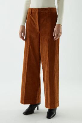 Cos Cotton Wide-Leg Corduroy Trousers