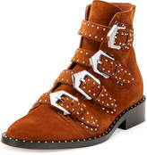Givenchy Elegant Studded Suede Ankle Boot