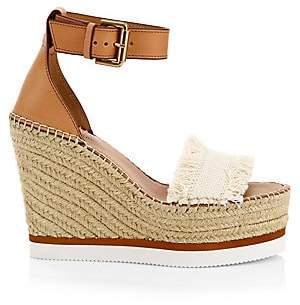 See by Chloe Women's Glyn Denim Espadrille Wedge Sandals