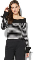 New York & Co. 7th Avenue - Off-The-Shoulder Striped Sweater