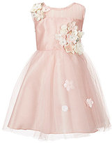 Rare Editions Little Girls 2T-6X Flower-Appliqued Tulle A-Line Dress
