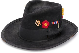 Nick Fouquet Badge Fedora Hat