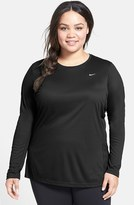 Nike Plus Size Women's 'Miler' Dri-Fit Long Sleeve Top