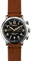 Shinola 41mm Runwell Chrono Watch, Tan/Black