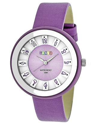 Crayo Watches Lavender/White - Lavender & White Leather Celebration Watch