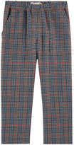 Bonpoint Girl carrot fit checked wool blend pants