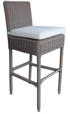"Bay Isle Home Oconee Patio Bar Stool with Cushion Seat Height: 30"""