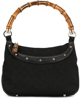Gucci Pre-Owned Bamboo Line GG monogram studded tote