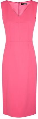 Dolce & Gabbana Pink V-neck midi dress