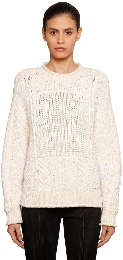 Givenchy Logo Detail Wool Knit Sweater
