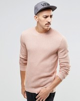 Asos Cable Knit Sweater with Rib Detail