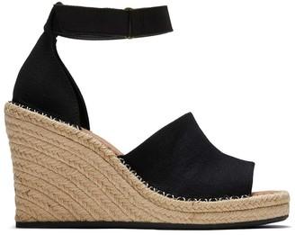 Toms Black Marisol Wedge Heel Sandal