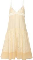 Rochas Layered chiffon and organza dress