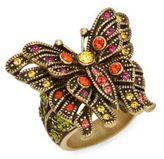 Heidi Daus Madame Butterfly Swarovski Crystal Multicolored Rhinestone Ring