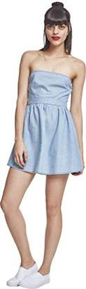 Urban Classic Women's Ladies Denim Bandeau Dress14