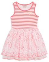 Juicy Couture Little Girl's Embroidered Tiered Dress