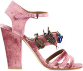 Laurence Dacade 'Malena' sandals - women - Leather/Velvet/metal - 39