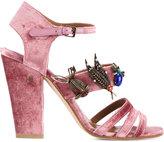 Laurence Dacade 'Malena' sandals - women - Velvet/metal/Leather - 39