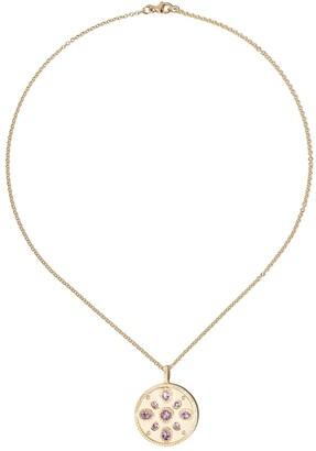 Kiki McDonough 18kt yellow gold Jemima lavender amethyst and diamond detail pendant