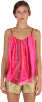 Cynthia Vincent Leather Strap Cami