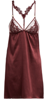 Fleur of England Guipure lace and silk-blend slip