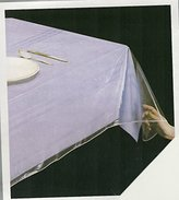 "Clear Heavy Duty Vinyl Tablecloth Protector, Oblong 70"" X 126"" Deluxe Collection"