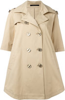 Tagliatore double breasted coat - women - Cotton/Spandex/Elastane/Cupro - 40