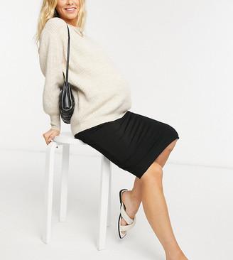 Asos DESIGN Maternity jersey pencil skirt in black