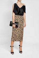 Diane von Furstenberg Printed Skirt with Silk