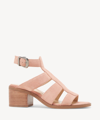 Sole Society Women's Tenlyn Cutout Sandals Coral Dust Size 5 Suede From
