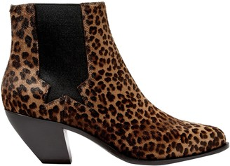 Golden Goose Sunset Leopard-print Calf Hair Ankle Boots