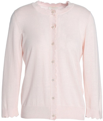 Kate Spade Rambling Roses Silk, Cotton And Cashmere-blend Cardigan